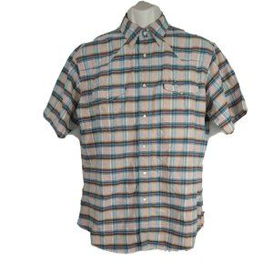 Wrangler Western Pearl Snap Cowboy Shirt Size L